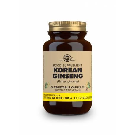 Ginseng Coreano (Panax ginseng). 50 cápsulas vegetales