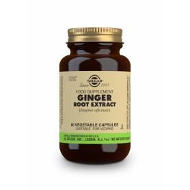 Jengibre – Extracto de Raíz – (Zingiber officinale). 60 cápsulas vegetales