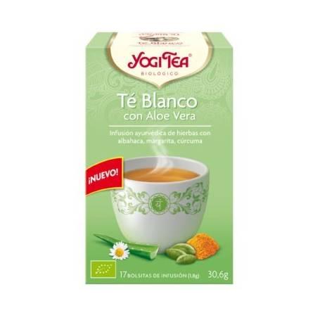 TE BLANCO CON ALOE VERA Infusión 17u YOGI TEA Plantas Medicinales 3,26€