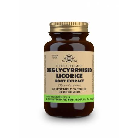 Regaliz Desglicirrizado – Extracto de Raíz – (Glycyrrhiza glabra). 60 cápsulas vegetales