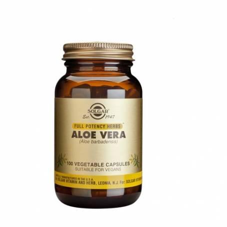 Aloe Vera – Extracto de Hoja – (Aloe barbadensis). 100 cápsulas vegetales