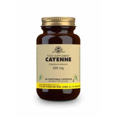 Cayena 520 mg (Capsicum annuum). 100 cápsulas vegetales