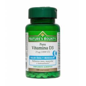 Vitamina D3 25 µg (1000 UI). 100 comprimidos