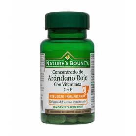 Concentrado de Arándano Rojo con Vitaminas C y E. 60 comprimidos