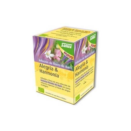 ALEGRIA Y ARMONIA FLORES DE BACH INFUSIONES 15ud SALUS Plantas Medicinales 7,00€