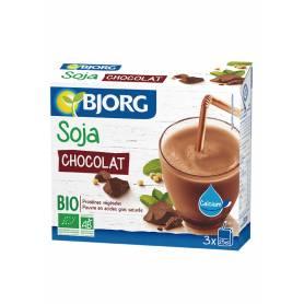 Pack 3 Bebidas Mini de Soja con Chocolate y Calcio Bio 25 cl