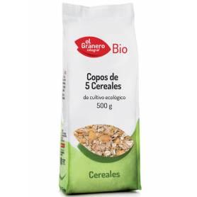 Copos de 5 Cereales Bio, 500 gr