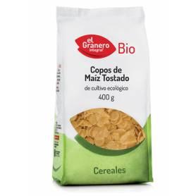 Copos de Maíz Tostado Bio, 400 gr