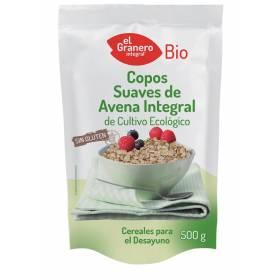 Copos Suaves de Avena Integral Sin Gluten Bio, 500 gr