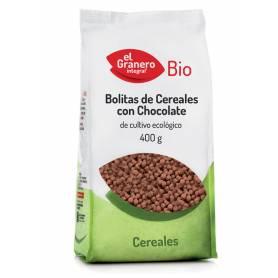 Bolitas de Cereales con Chocolate Bio, 400 gr