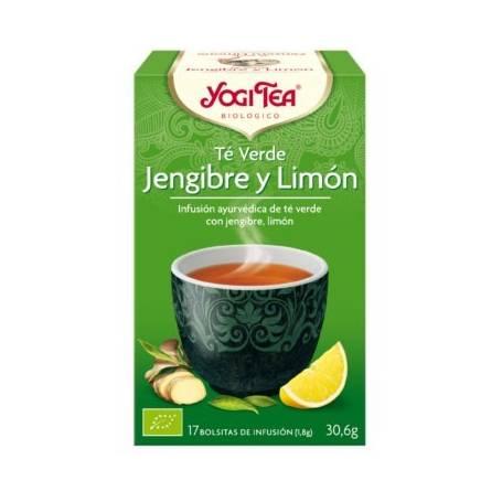 TE VERDE JENGIBRE LIMON 17u YOGI TEA Plantas Medicinales 3,33€