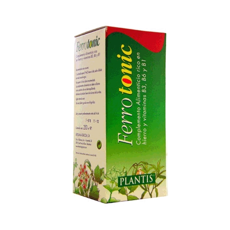 FERROTONIC jarabe 250ml PLANTIS Suplementos nutricionales 9,27€