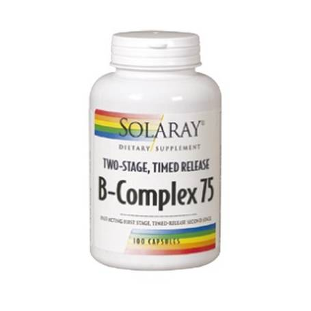 B-COMPLEX 75 100cap SOLARAY Suplementos nutricionales 24,71€