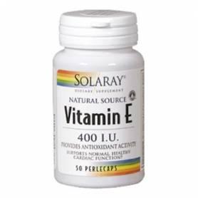 VITAMINA E 400UI 50perl SOLARAY Suplementos nutricionales 14,77€