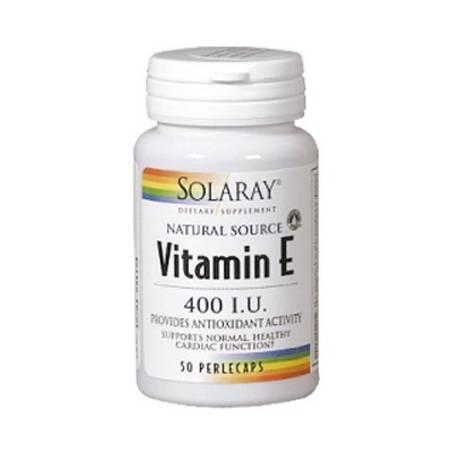VITAMINA E 400UI 50perl SOLARAY Suplementos nutricionales 14,69€