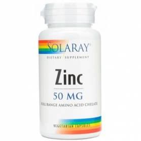 ZINC 50mg 60cap SOLARAY Suplementos nutricionales 10,69€