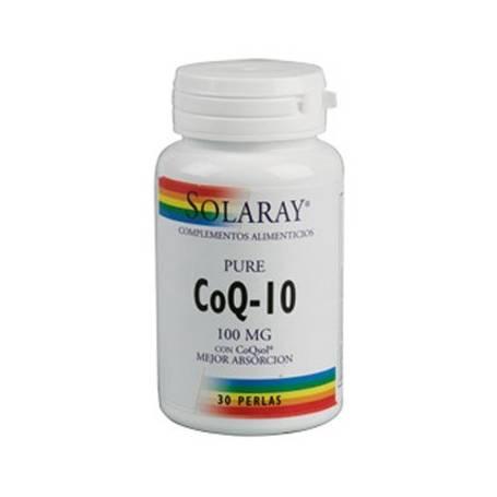 CoQ10 PURA 100mg 30cap SOLARAY Suplementos nutricionales 44,82€