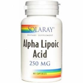 ACIDO ALPHA LIPOICO 250mg 60cap SOLARAY Suplementos nutricionales 42,75€