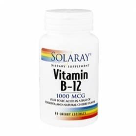 VITAMINA B12 1000mcg 90comp sublinguales SOLARAY Suplementos nutricionales 14,03€
