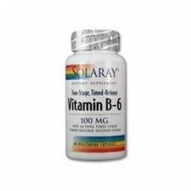 VITAMINA B6 100mg 60cap SOLARAY Suplementos nutricionales 13,36€