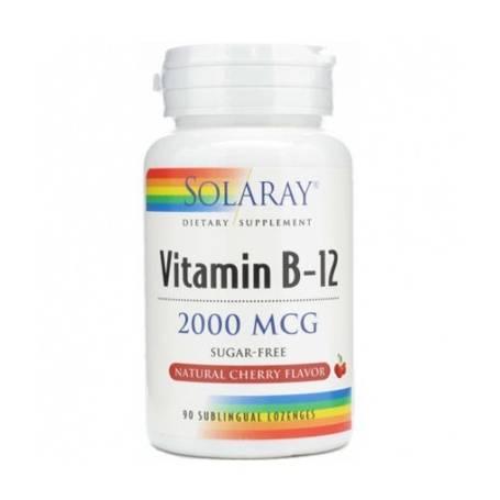 VITAMINA B12 2000mcg 90comp sublingual SOLARAY Suplementos nutricionales 18,03€
