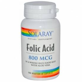 ACIDO FOLICO 800mg 100cap SOLARAY Ácido Fólico 10,69 €
