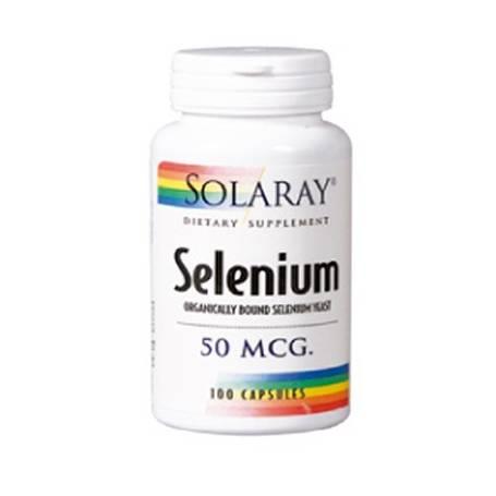SELENIO 50mcg 100cap SOLARAY Suplementos nutricionales 10,02€