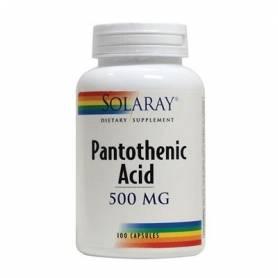 ACIDO PANTOTENICO 500mg 100cap SOLARAY Suplementos nutricionales 16,70€