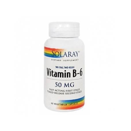 VITAMINA B6 50mg 60cap SOLARAY Suplementos nutricionales 12,02€