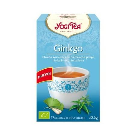 GINKGO Infusión BIO 17ud YOGI TEA Plantas Medicinales 3,33€