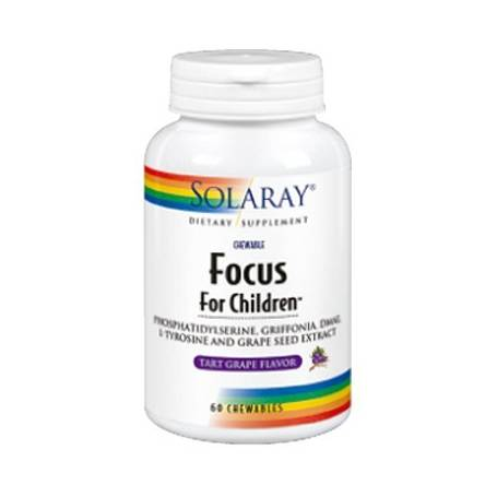 FOCUS FOR CHILDREN 60comp msticables SOLARAY Suplementos nutricionales 22,71€