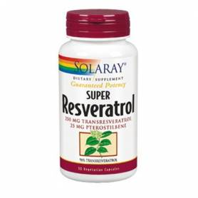 SUPER RESVERATROL 250mg 30cap SOLARAY