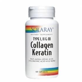 COLLAGENO-QUERATINA 60cap SOLARAY Suplementos nutricionales 38,74€