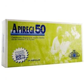 APIREGI 50 jalea real 1000mg 24amp ARTESANIA AGRICOLA Suplementos nutricionales 18,22€
