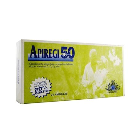 APIREGI 50 jalea real 1000mg 24amp ARTESANIA AGRICOLA