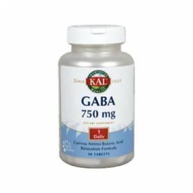 GABA 750mg 90comp KAL Suplementos nutricionales 28,05€
