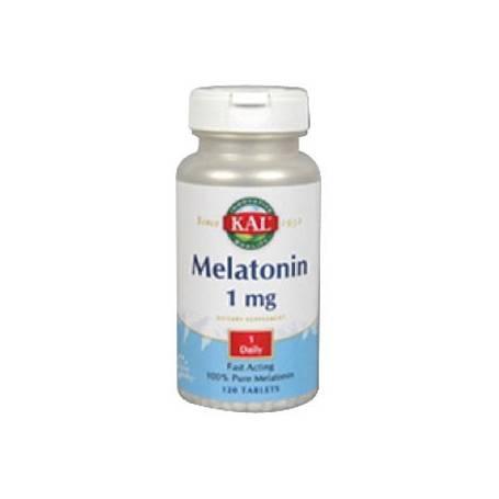 MELATONINA 1mg 120comp KAL Suplementos nutricionales 12,02€