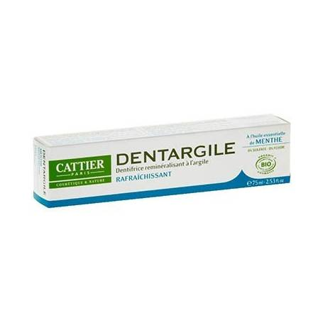 DENTIFRICO DENTARGILE CON MENTA REFRESCANTE 75ml CATTIER Cosmética e higiene natural 5,66€