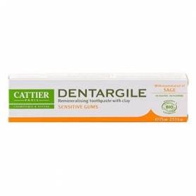 DENTIFRICO DENTARGILE CON SALVIA ENCIAS SENSIBLES 75ml CATTIER Cosmética e higiene natural 5,66€