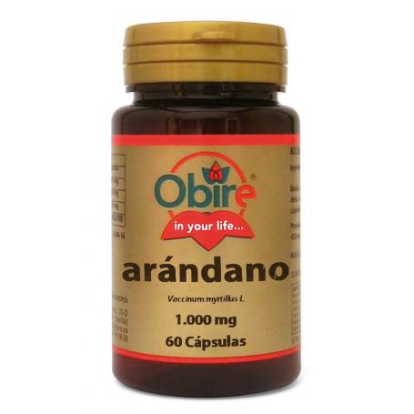 ARANDANO NEGRO 1000MG 60cap OBIRE Plantas Medicinales 5,28€
