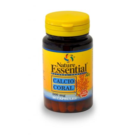 CALCIO CORAL 500mg 50cap NATURE ESSENTIAL Suplementos nutricionales 5,09€
