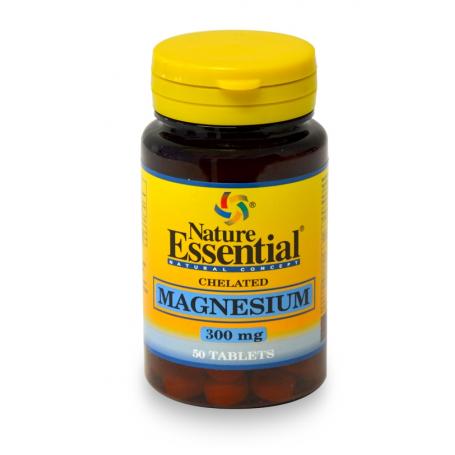 MAGNESIO QUELADO 300mg 50comp NATURE ESSENTIAL Suplementos nutricionales 4,14€