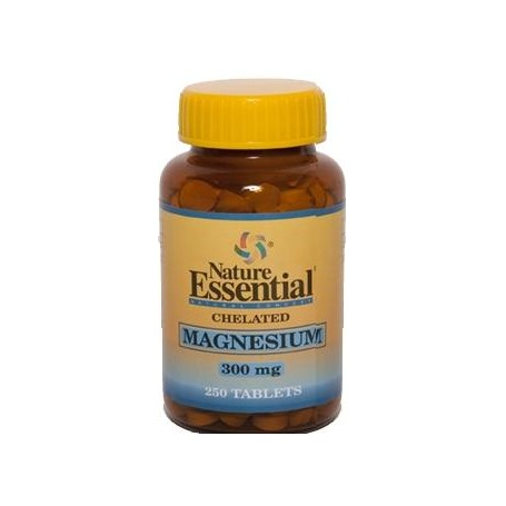 MAGNESIO QUELADO 300mg 250comp NATURE ESSENTIAL Suplementos nutricionales 9,07€