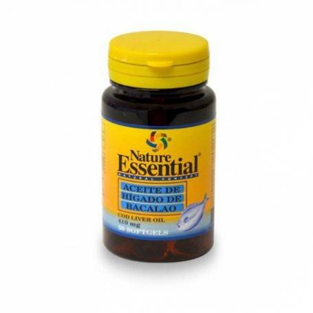 HIGADO BACALAO 410mg 50perl NATURE ESSENTIAL Suplementos nutricionales 4,14€