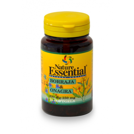 BORRAJA Y ONAGRA 500mg 50perl NATURE ESSENTIAL Plantas Medicinales 4,23€