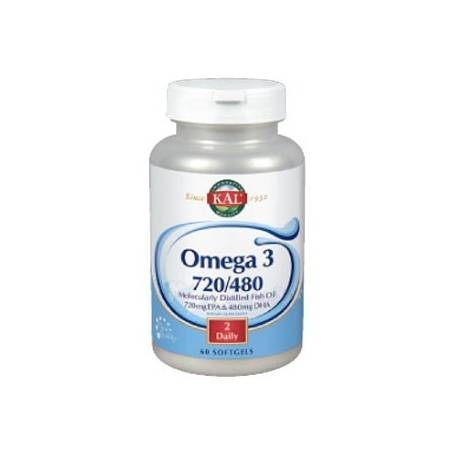 OMEGA 3 720/480 60perl KAL Suplementos nutricionales 17,37 €