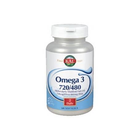 OMEGA 3 720/480 60perl KAL Suplementos nutricionales 17,37€