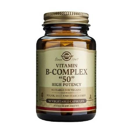 """VITAMINA B COMPLEX """"50"""" 100cap SOLGAR Suplementos nutricionales 23,85€"""