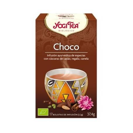CHOCO Infusión BIO 17ud YOGI TEA Plantas Medicinales 3,33€
