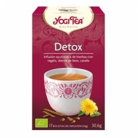 DETOX Infusión BIO 17ud YOGI TEA Plantas Medicinales 3,33€